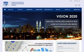 ICIA - Institute of Commercial & Industrial Accountants of Malaysia Website