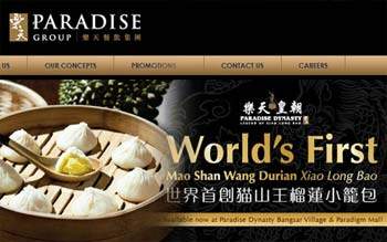 Paradise Group - Website Design in Malaysia