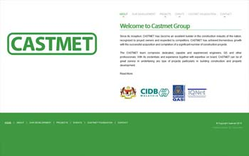 CASTMET - Property Developer Website - Website Design in Malaysia