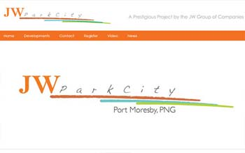 JW Group - Port Moresby Property Developer Website - Web Design in Malaysia