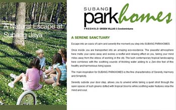 Subang Park Homes by Titijaya - Property Developer Website - Website by Skytomato