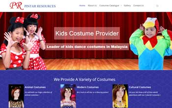 Pintar Resources - Children Costumes - Website Maintenance