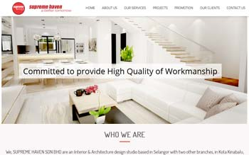 Supreme Haven � Interior & Architecture design studio - Website Maintenance
