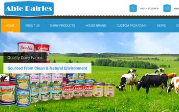 Able Dairies - Web Design in Malaysia