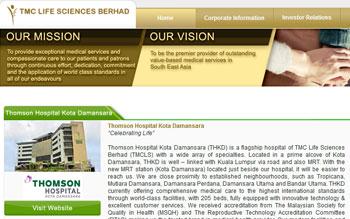 TMC Life Berhad - Web Design in Malaysia