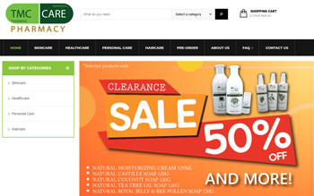TMC Care Pharmacy - Web Design in Malaysia