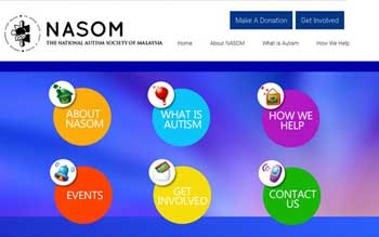 NASOM - The National Autism Society of Malaysia - Web Designed by Skytomato