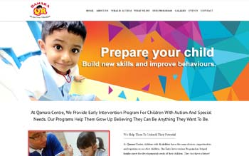 Qamara Centre - Centre for Autism and Special Needs - Web Design in Malaysia