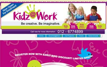Kidz At Work - Childrens and Kids Education Centre in Bukit Jalil - Website Designed in Malaysia