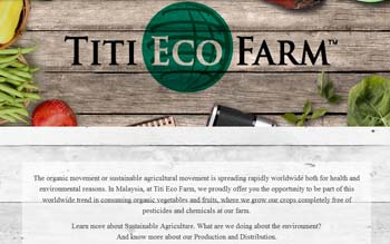 Titi Eco Farm - Website Design in Malaysia