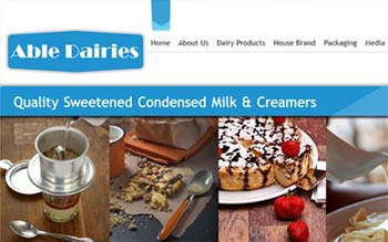 Able Dairies Sdn Bhd - International Dairies Exporter - Web & Email Hosting from Malaysia