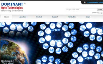 DOMINANT Opto Technologies Sdn Bhd - Website Design in Malaysia