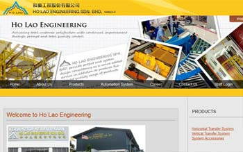 Ho Lao Engineering Sdn Bhd - Website Design in Malaysia
