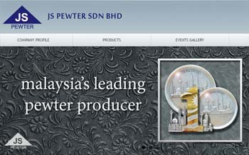JS Pewter Sdn Bhd - Malaysia Tin & Pewter Website - Web Design by Skytomato
