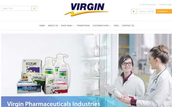 Virgin Pharmaceutical - Web Design in Malaysia