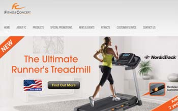 Fitness Concept - Website Design in Malaysia